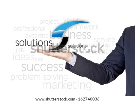 business words concept with blue and black letter - stock photo