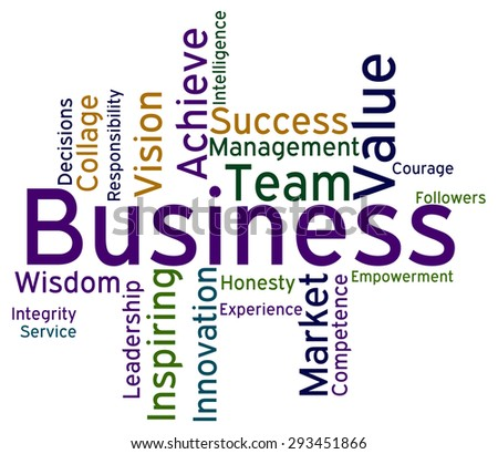 Business Words Showing Corporation Text And Corporate