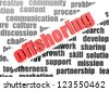 business work of offshoring - stock photo