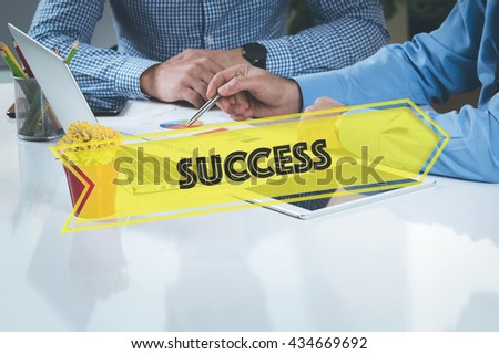 BUSINESS WORKING OFFICE Success TEAMWORK BRAINSTORMING CONCEPT - stock photo