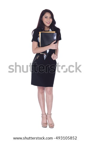 Business Working Woman Model in executive look, full body