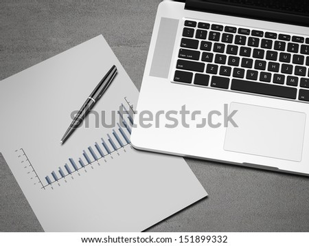 business workplace - stock photo