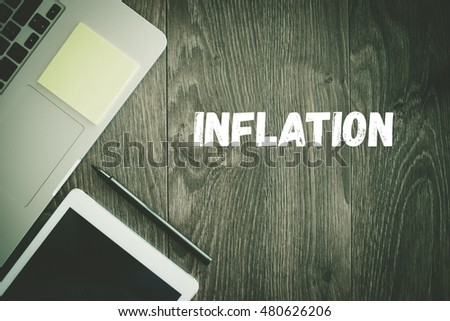 BUSINESS WORKPLACE TECHNOLOGY OFFICE INFLATION CONCEPT