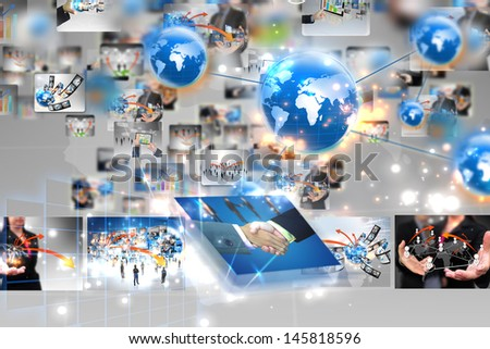 business world,connected  - stock photo