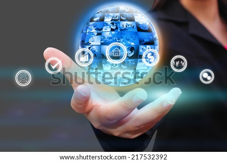 business world,social network concept.  - stock photo