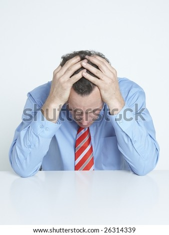 business worry - stock photo