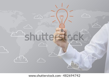 Business writing Cloud Idea Concept