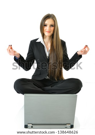 Business Yoga - stock photo