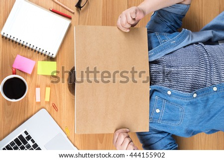 Business, young business women relaxing at office, Business concept, vintage tone, soft focus - stock photo
