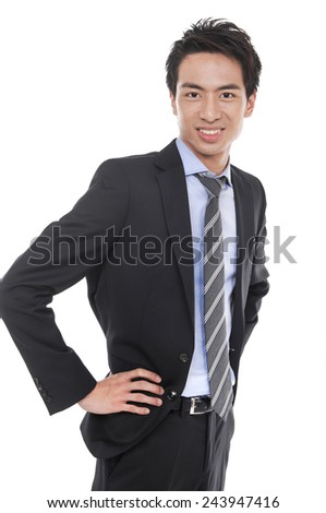 Business young man isolated  - stock photo