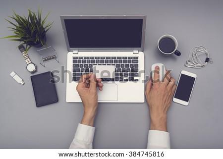 Businesscard and webdesign mockup - stock photo