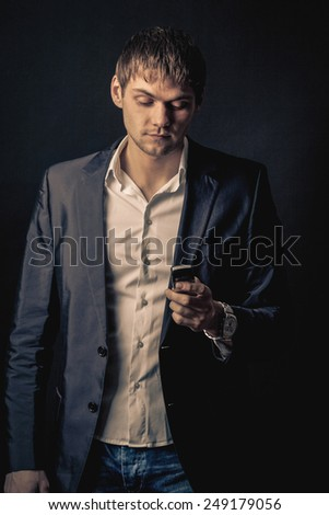 businessman after hard work day - stock photo