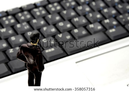 Businessman and personal computer