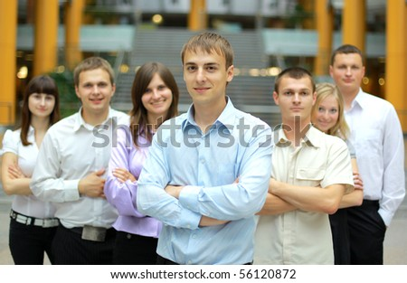 businessman and team - stock photo