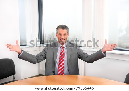 businessman at work - stock photo