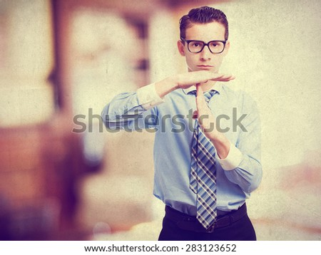 businessman boy time out - stock photo
