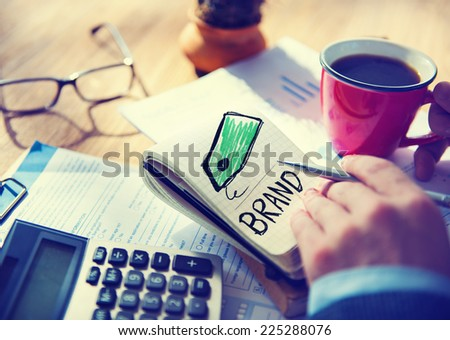 Businessman Brand Single Word Concept - stock photo