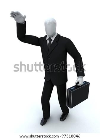 businessman calls someone - stock photo