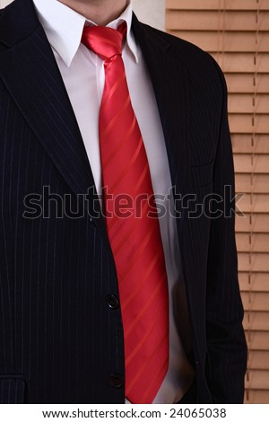 Businessman close up image with space for messages