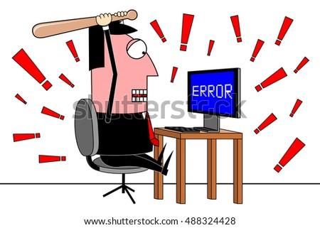 businessman computer error clipart stock illustration 488324428 rh shutterstock com clipart businessman phone businessman clipart
