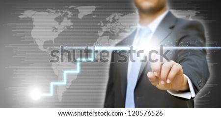 Businessman concept - stock photo