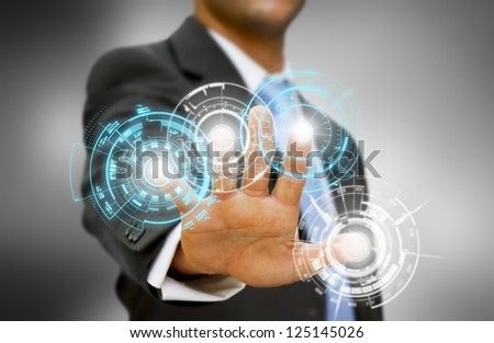 Businessman concept - stock photo