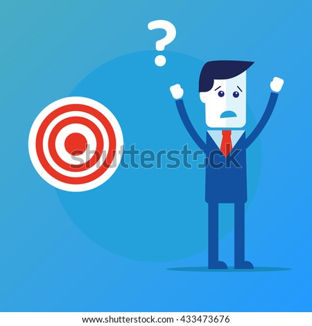 Businessman concept find target  - stock photo