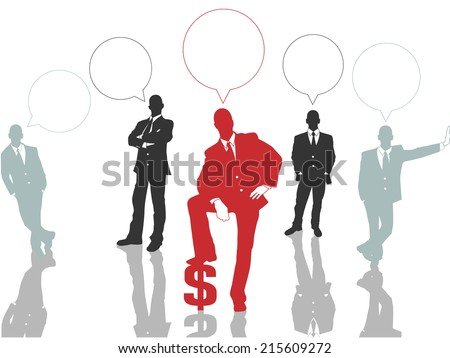 BUSINESSMAN CONCEPT OPTIONS 2 RED - stock photo