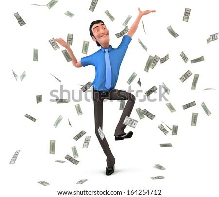 Businessman dancing - stock photo