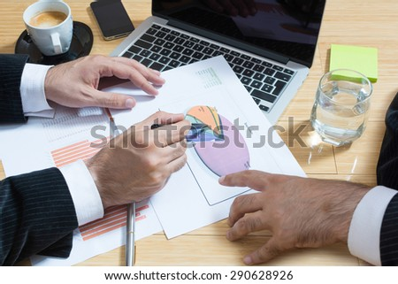 Businessman discussing about new project