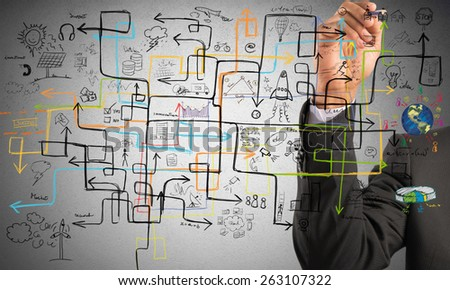 Businessman find a solution to increase profit - stock photo