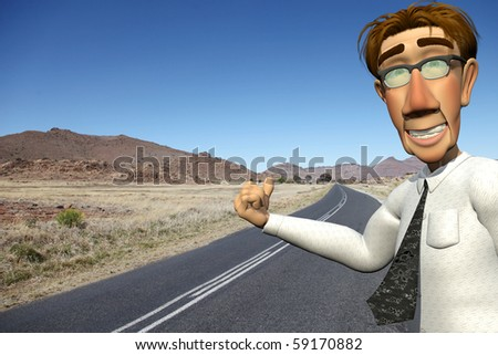 businessman free riding - stock photo