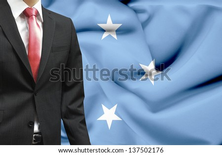 Businessman from Micronesia conceptual image
