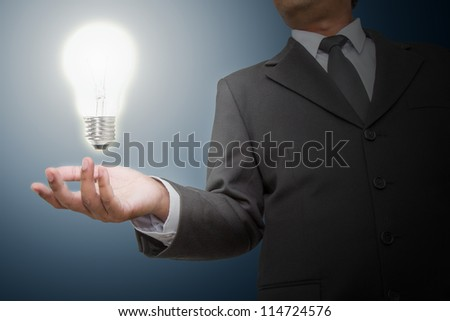 Businessman get  ideas - stock photo