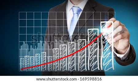 Businessman graph concept