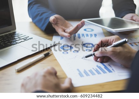 Image Human Hands Pens Over Business Stock Photo