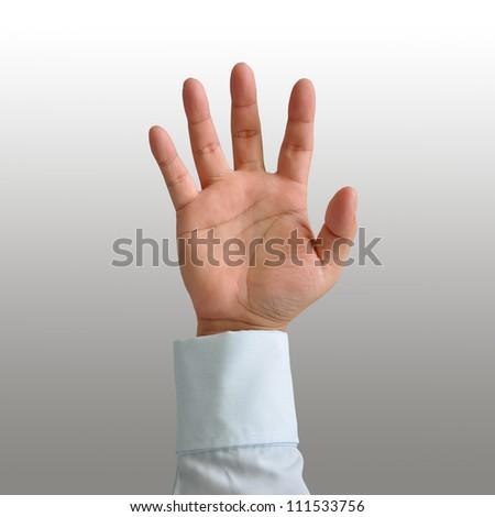 Businessman hands - stock photo