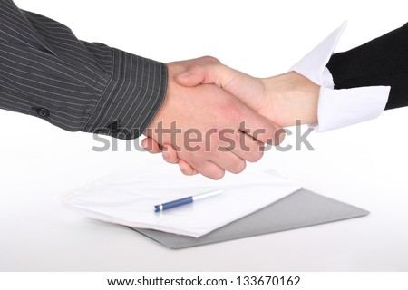 Businessman hands