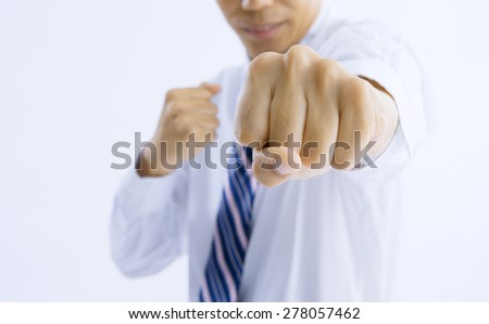 businessman hands - stock photo