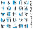 Businessman Icons. Illustration Set - stock photo