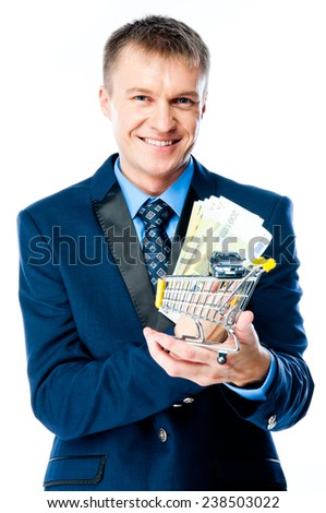 businessman in a business suit