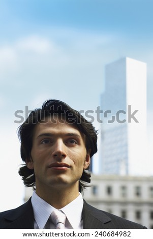 Businessman in City - stock photo