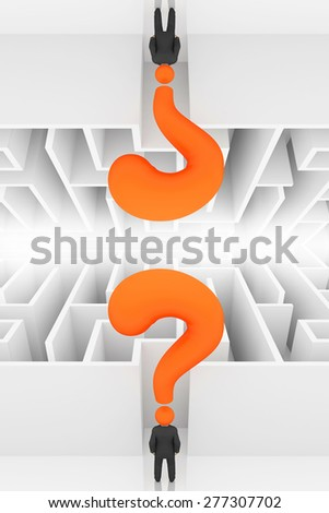 Businessman in front of  maze,upside down concept
