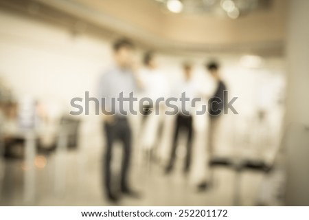 businessman in office in blurry for background