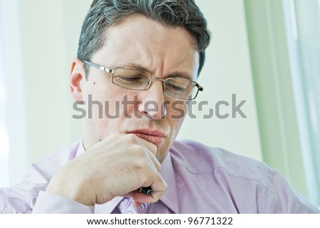 businessman in stress - stock photo