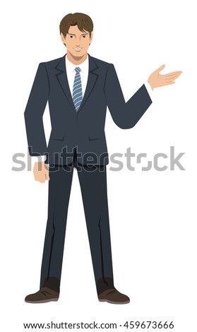 Businessman - induction - stock photo