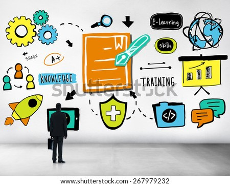 Businessman Inspire Ideas Strategy Training Information Concept - stock photo