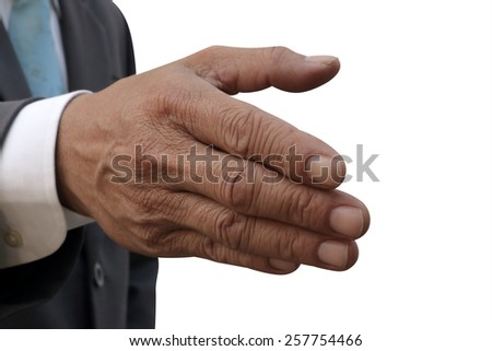 businessman invited hand - stock photo