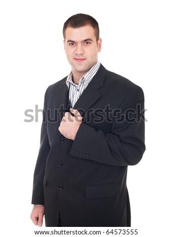 Businessman isolate on white background - stock photo
