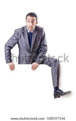 Businessman isolated on the white background - stock photo